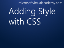 Adding Style with CSS