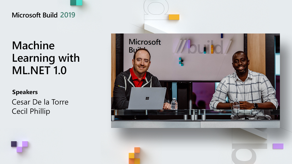 Machine Learning with ML NET 1 0 from Build 2019