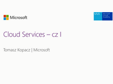 Azure – Cloud Services – cz I