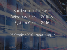 Windows Server 2016 Malaysia Launch