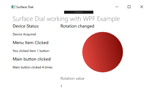 Dialing with WPF