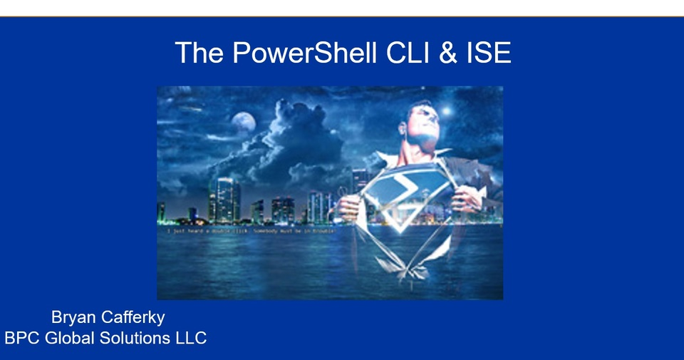 An Introduction to PowerShell
