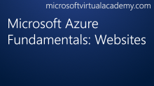 Microsoft Azure Fundamentals: Websites