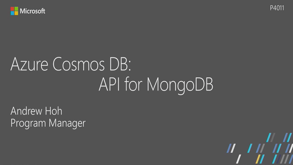 Azure Cosmos DB: API for MongoDB