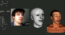Faceshift, a Kinect based real time facial movement package