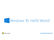 Windows 10 Hel10 World!