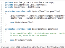 Tip for using the Kinect for Windows SDK with XNA