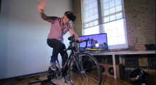 Oculus + Kinect + KickR = a Homage to Paperboy