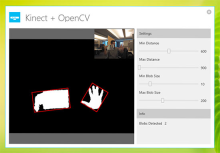 Kinect + OpenCV + WPF = Blob Tracking