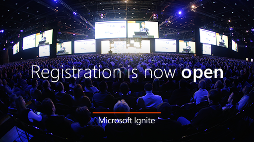 Looking forward to Microsoft Ignite