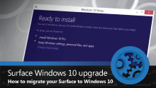 Migrating your Surface to Windows 10, with Windows in-place upgrade