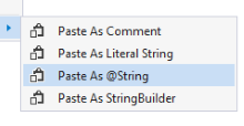 Smart string pasting with SmartPaster