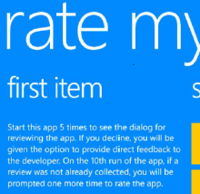 Get ready for the ratings and getting going with the Windows Phone Rate My App