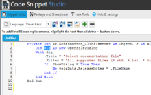A Look Behind Code Snippet Studio