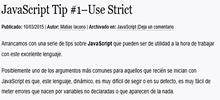 JavaScript Tip #1–Use Strict