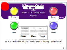 Kinect Quiz source code now available