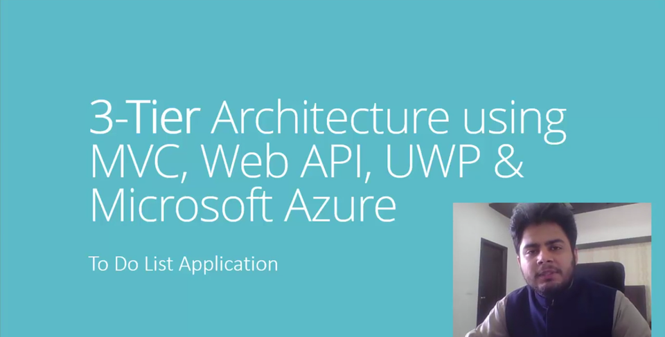 3-tier Architecture using MVC, Web API, UWP & Microsoft Azure - Part 1 - Urdu/Hindi Language