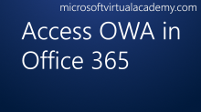 Access OWA in Office 365