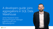 A developers guide: joins and aggregations in Azure SQL Data Warehouse