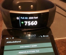 How high are you? With the Microsoft Band 2...