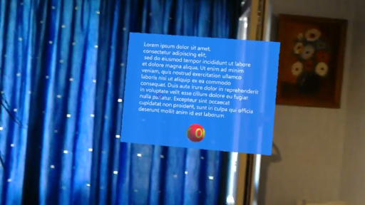 Floating HoloLens Screen