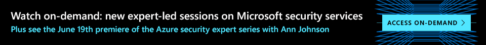Watch the On Demand Video on Azure Security Expert Series