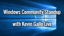Windows Community Standup