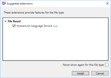 Unknown File Type? Visual Studio Suggestion Extension...