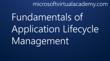 Fundamentals of Application Lifecycle Management