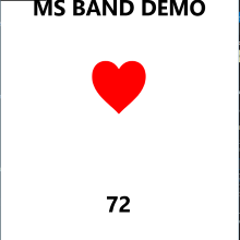 Have a heart...rate Band UWP sample