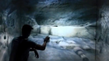 Spelunking with the Kinect in a virtual grotto and CAVE