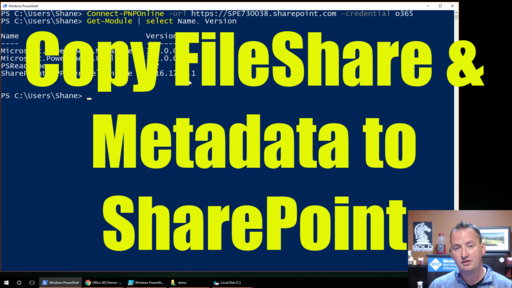 Copy Files and File Shares with METADATA to SharePoint Online