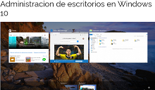 Administración de escritorios en Windows 10