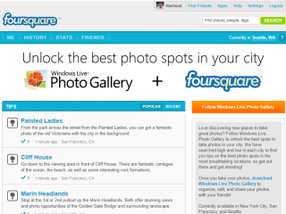 See Your City In a New Light With Foursquare and Windows Live Photo Gallery