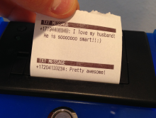 IoT Thermal Printer, all with a little Py and Pi