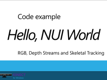Hello Kinect for Windows Beta 2 NUI/VUI World