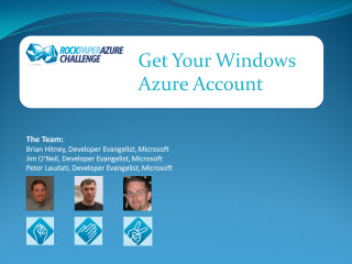 Rock Paper Azure Challenge - Part 1(of 5) - Get Your Windows Azure Account