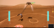 Mars Rover Landing on your XBox 360, with the Kinect