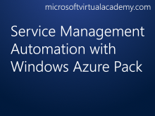 Service Management Automation with Windows Azure Pack