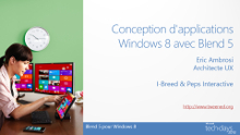 Conception d'une application pour Windows 8 avec Blend 5