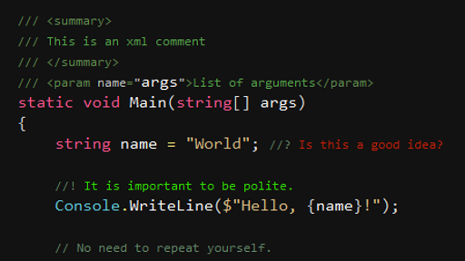 Pretty Up your Code Comments with Better Comments