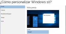 ¿Cómo personalizar Windows 10?