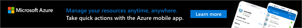 Banner Ad for Azure Mobile App Promotion