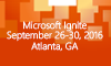 Microsoft Ignite 2016 pre-registration is open