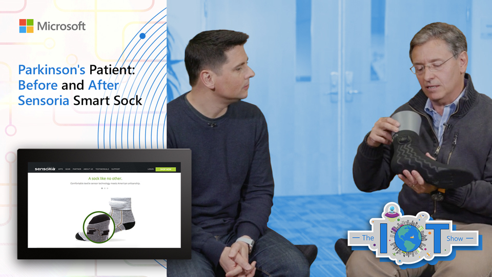 Parkinson's Patient - Before and After Sensoria Smart Sock