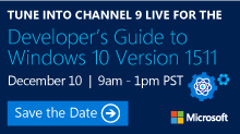 Developer's Guide to Windows 10 Version 1511