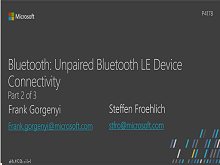 Bluetooth: Unpaired Bluetooth LE Device Connectivity - Part 2 of 3