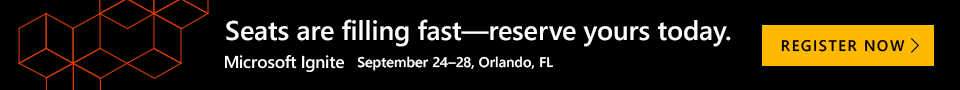 Banner Ad for Microsoft Ignite Registration