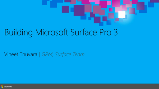 Building Microsoft Surface Pro 3