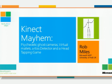 Kinect Mayhem: Psychedelic ghost cameras, Virtual mallets, a Kiss Detector and a Head Tapping Game